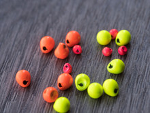 Inverting Tungsten Beads Fluorescent Colors 50 pack (Orange, Chartreuse, Pink)