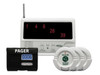 Wireless Central Paging System with Three Nurse Call Buttons and Pager W/Reset Button