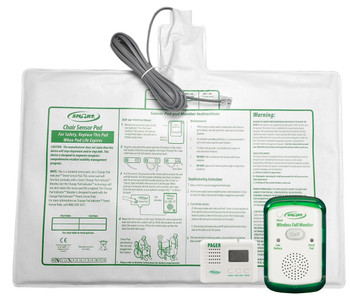 Bed Pad Alarm Corded to Wireless Pager with Weight Sensing 20x30 Corded Bed Pad