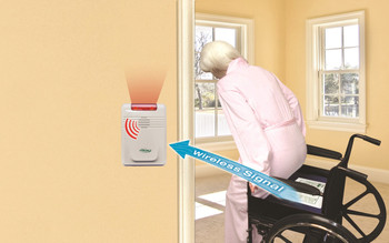 Bed and Chair Alarm System - Alarm can be up to 300 Feet from Pads 433BWC1-SYS