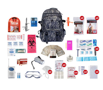 2 Person Deluxe Survival Kit (72+ HOURS) CAMO BACKPACK