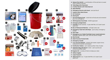 2 Person Bucket Survival Kit (72+ HOURS)