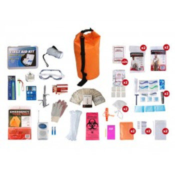 2 Person Elite Survival Kit (72+ HOURS) Waterproof Dry Bag