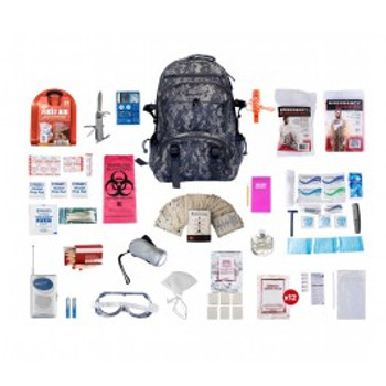 1 Person Deluxe Survival Kit (72+ HOURS) CAMO BackPack