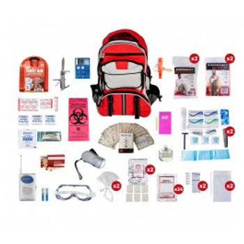 2 Person Deluxe Survival Kit (72+ HOURS) BACKPACK