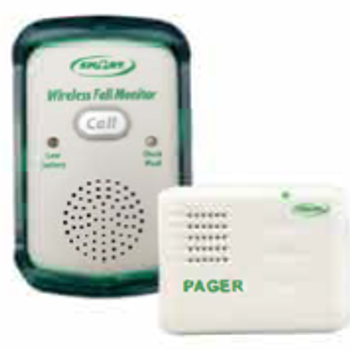 Pager for Wireless Economy Quiet Fall Prevention Monitor