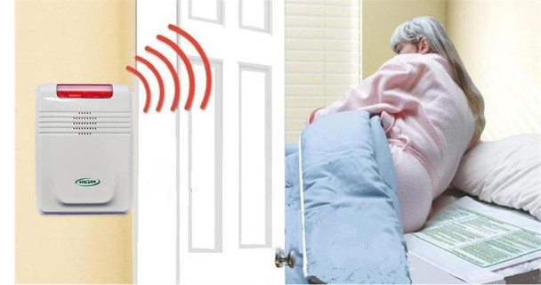 433BR1-SYS Cordless Exit Alarm Monitor with Bed Pad Combination