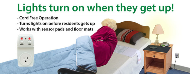 Smart Caregiver Smart Light Outlet and 10x30 Bed Pad