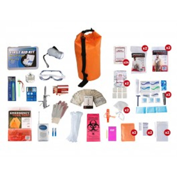 2 Person Elite Survival Kit (72+ HOURS) Waterproof Dry Bag