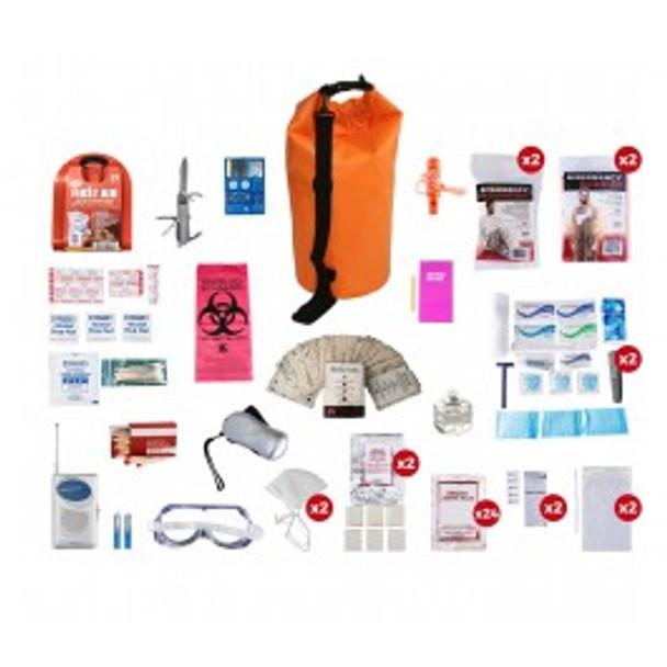 2 Person Deluxe Survival Kit (72+ HOURS) WATERPROOF Dry Bag