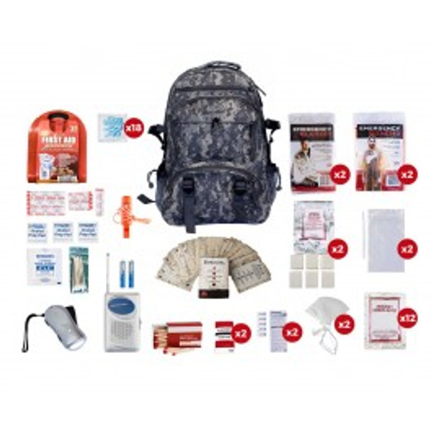 2 Person Survival Kit (72+ HOURS) CAMO Backpack