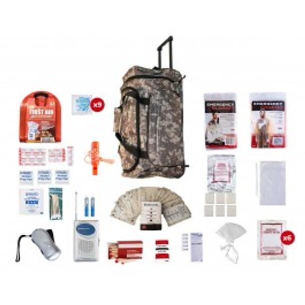 1 Person Survival Kit (72+ HOURS)-CAMO WHEEL BAG