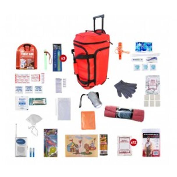 Children's Survival Kit (72 HOURS)RED WHEEL BAG