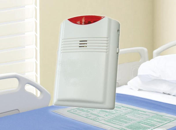 Cordless Bed Chair Exit Alarm 10x30 Bed Pad & Chair Pad Combo and AC Adapter