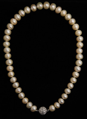"FRESH WATER PEARL NECKLACE 18"" WHITE 11 (PN08WH)"