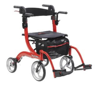 NITRO DUET DUAL FUNCTION TRANSPORT WHEELCHAIR AND ROLLATOR ROLLING WALKER (AC6159)