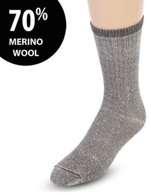MERINO WOOL THERMAL SOCKS 2 PAIR (AC6270*)