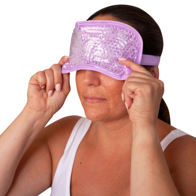 GEL BEAD EYE MASK HOT OR COLD (AC6349)