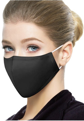 ADULT MASK WASHABLE SNUG FIT BLACK (AC6396)