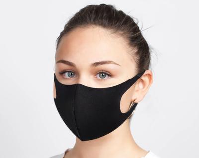 BREATHABLE FACE MASK BLACK UNISEX (AC6451)