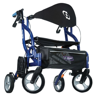 AIRGO FUSION F20 SIDEFOLDING ROLLATOR AND TRANSPORT CHAIR