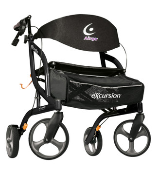 AIRGO EXCURSION XWD LIGHTWEIGHT SIDEFOLD ROLLATOR BLACK