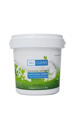 ALL CLEAN NATURAL WIPES 270 COUNT