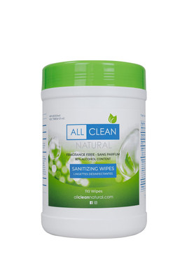 ALL CLEAN NATURAL WIPES 110 COUNT