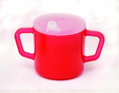 RED TWO HANDLE CUP
