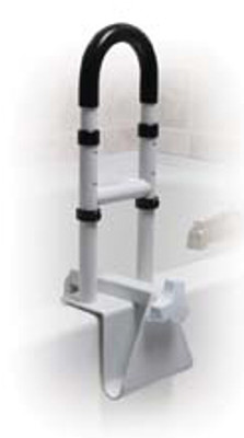 CLAMP ON TUB RAIL HEIGHT ADJUSTABLE