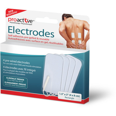 "PROACTIVE ELECTRODES RECTANGLE 1.5"" X 3"""