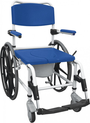 DRIVE MEDICAL WHEELED ALUMINIUM REHAB SHOWER COMMODE CHAIR