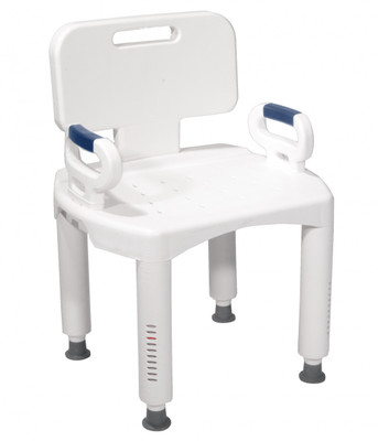 DRIVE MEDICAL PREMIUM BATH SEAT WITH BACK AND ARMS AC3960