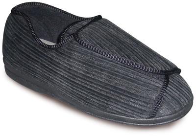 TENDER TOOTSIES MEN'S ULTIMATE COMFORT SLIPPER BLACK
