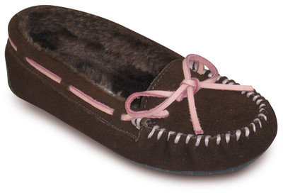 WANDERLUST GENUINE SUEDE MOCCASIN WITH LEATHER TIE
