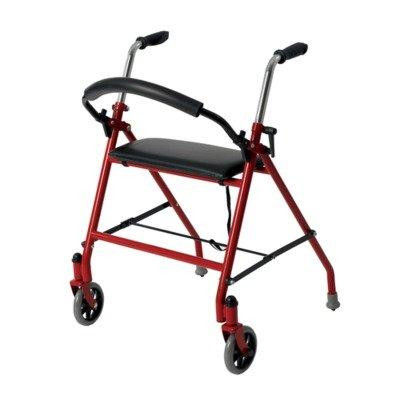 DRIVE MEDICAL 2 WHEELED WALKER WITH SEAT