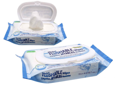 ADULT FLUSHABLE WIPES 48 PACK