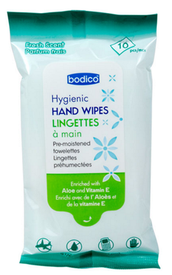HYGIENIC HAND WIPES 10 PACK