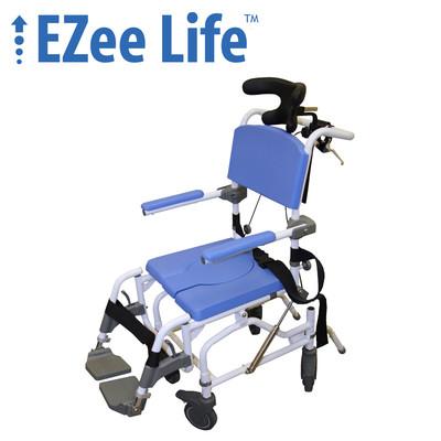 "EZEE LIFE 15"" ALUMINUM TILT REHAB COMMODE"