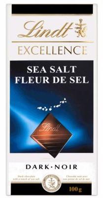 LINDT EXCELLENCE SEA SALT DARK CHOCOLATE BARS 100G