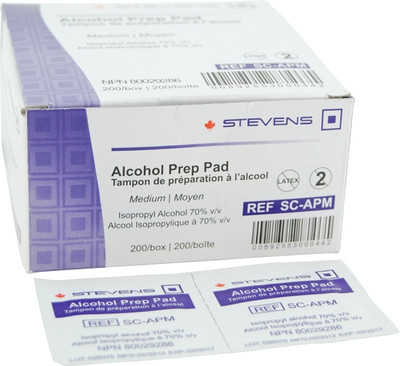MEDIUM ALCOHOL PREP 70 % STEVENS (AC3347)
