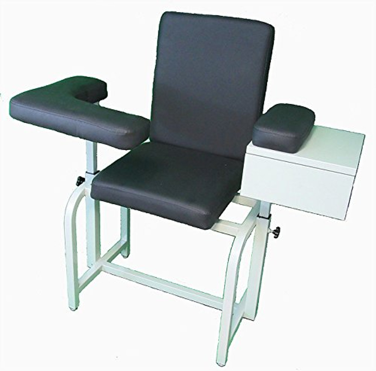 Surprising Phlebotomy Blood Chair With Free Drawer Upgrade Gunmetal Gray Theyellowbook Wood Chair Design Ideas Theyellowbookinfo
