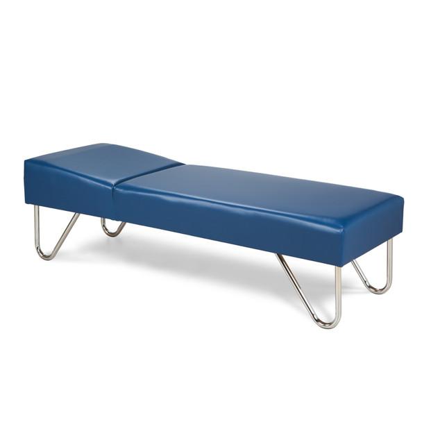 Clinton 3600 Nurses Recovery Couch w/chrome legs
