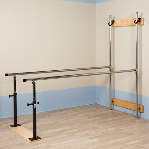 Clinton 3-3307 Wall Mounted Folding Parallel Bars full view