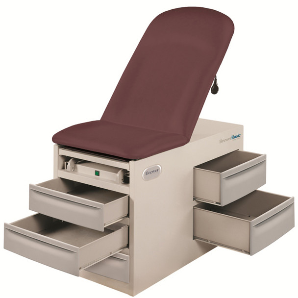 Brewer 4000 Exam Table drawers open