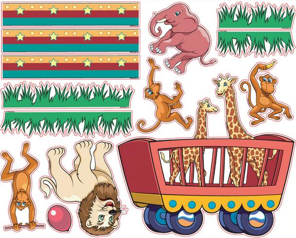 Pedia Pals Pediatric Circus Decal Kit