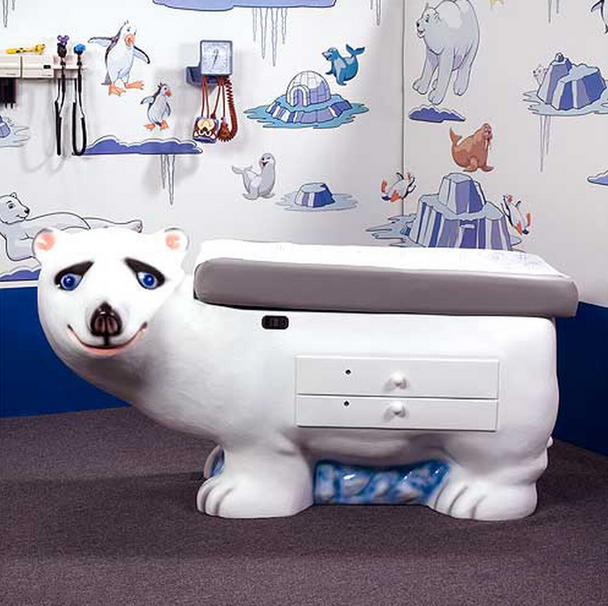 Pedia Pals Zoopal Polar Bear Pediatric Exam Table