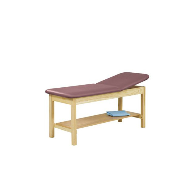 5060 Treatment Table w/Adjustable Back & H-Brace with Shelf
