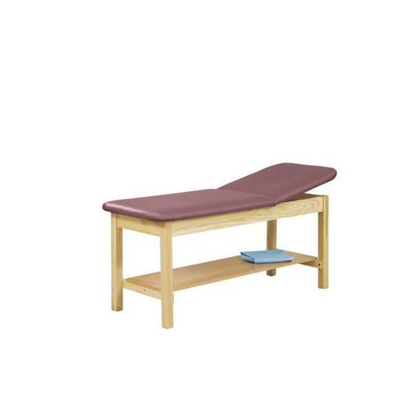 5060 Treatment Table w/Adjustable Back & H-Brace with Shelf