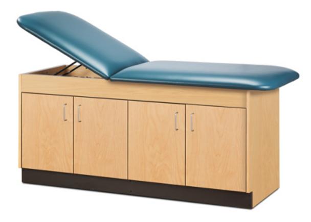 Clinton 9074 Cabinet Style Treatment Table w/Adjustable Headrest & 4 Doors